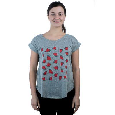 T-Shirt Darika Watermelons Grey
