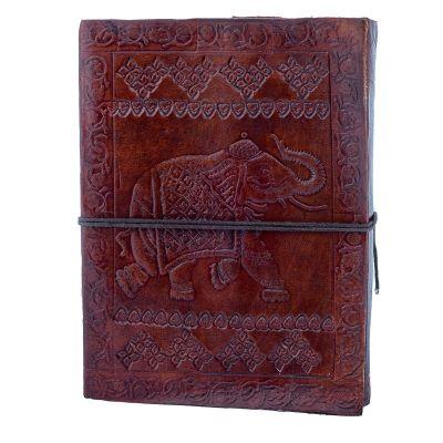Leder-Notizbuch Elefant | mini, klein, groß