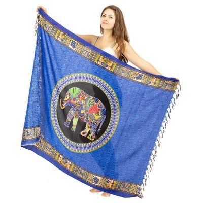 Sarong Elefant blau
