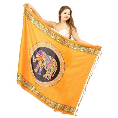 Sarong Elefant orange