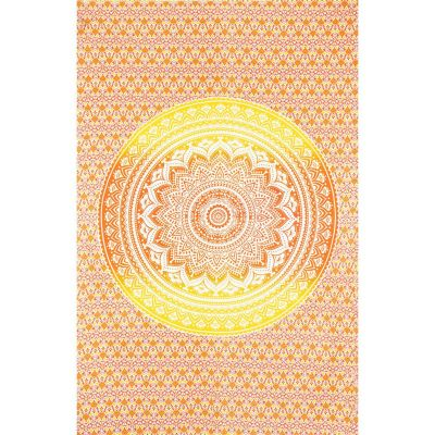 Überdecke Mandala – rot-gelb