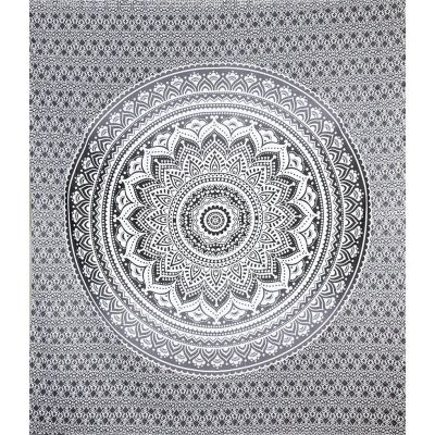 Überdecke Mandala – grau