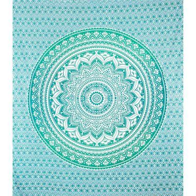 Überdecke Mandala – grün-türkis