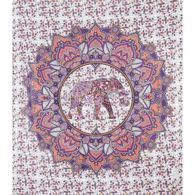Überdecke Elefantenmandala – rosa-lila
