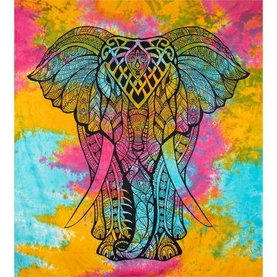 Überdecke Großer Elefant - bunt