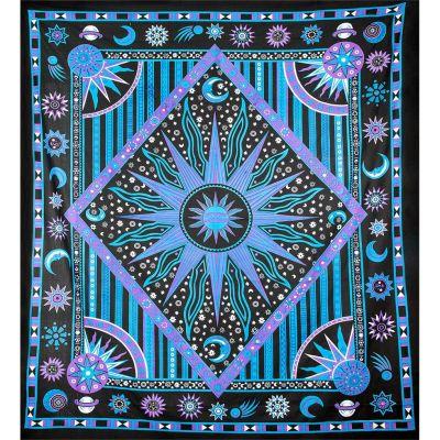 Überdecke Weltraum – lila-blau