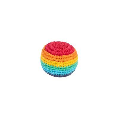 Gehäkelter Hacky Sack – Rainbow