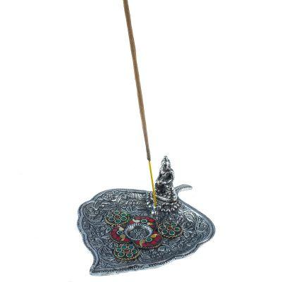 Weihrauchhalter Blatt mit Buddha und Mosaik 2