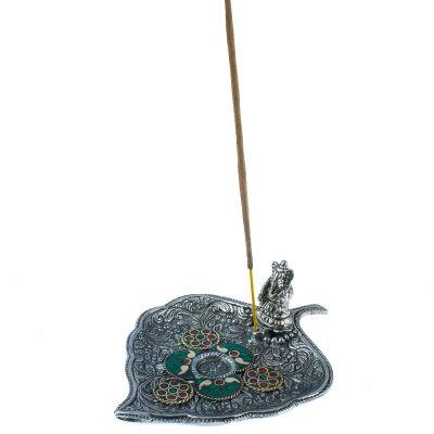Weihrauchhalter Blatt mit Ganesh und Mosaik 2