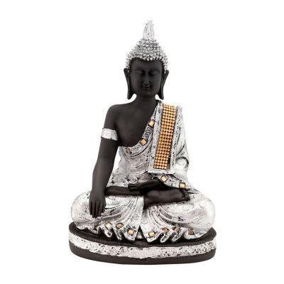 Figur Silberner Buddha