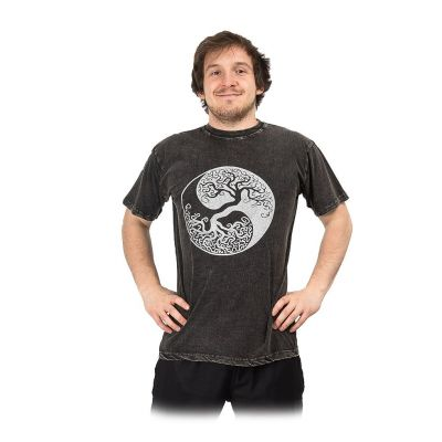 T-shirt Yin&Yang Tree Black