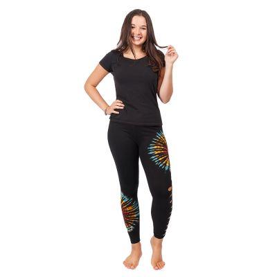 Batik-Leggings mit Schlitzen Katuru Black   S/M, L/XL