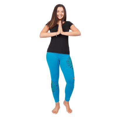 Batik-Leggings mit Schlitzen Katuru Blue   S/M, L/XL