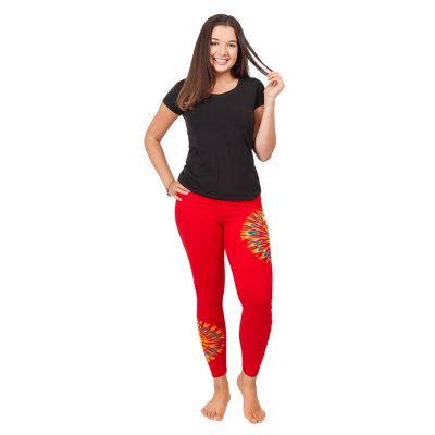 Batik-Leggings mit Schlitzen Katuru Red   S/M, L/XL