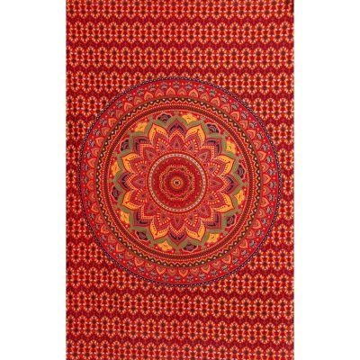 Überdecke aus Baumwolle Lotus-Mandala – feurig