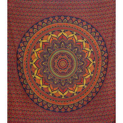 Überdecke aus Baumwolle Lotus-Mandala – groß