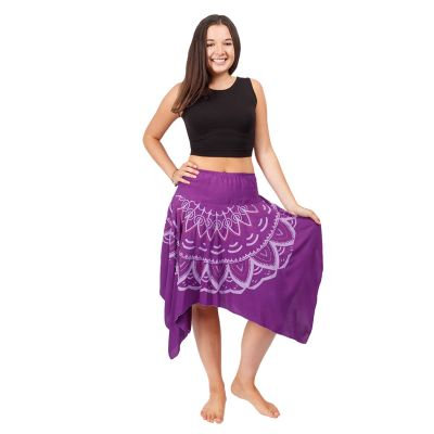 Spitzrock mit elastischer Taille Tasnim Purple   S/M, L/XL