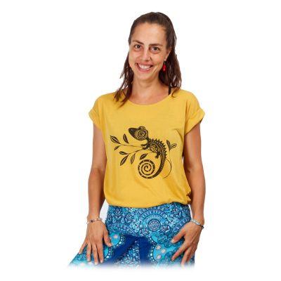 Damen T-Shirt mit kurzen Ärmeln Darika Chameleon Yellow   UNI