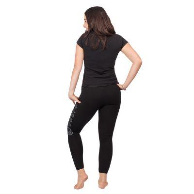 Bedruckte Leggings Chakras Black   S/M, L/XL