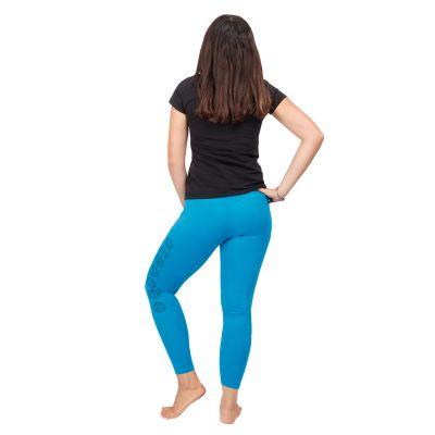 Bedruckte Leggings Chakras Blue   S/M, L/XL