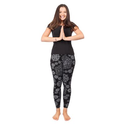 Bedruckte Leggings Mandala Black   S/M, L/XL