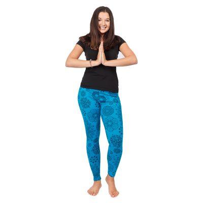 Bedruckte Leggings Mandala Blue   S/M, L/XL
