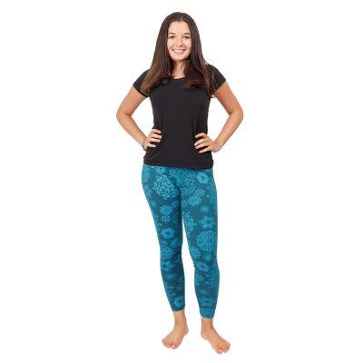 Bedruckte Leggings Mandala Petrol Blue   S/M, L/XL