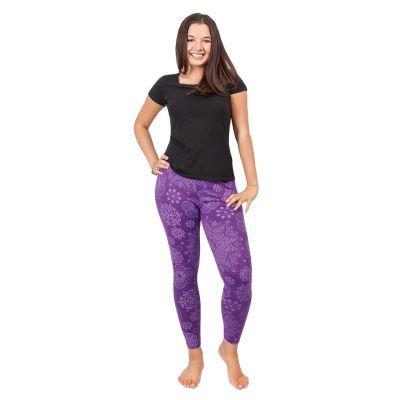 Bedruckte Leggings Mandala Purple   S/M, L/XL