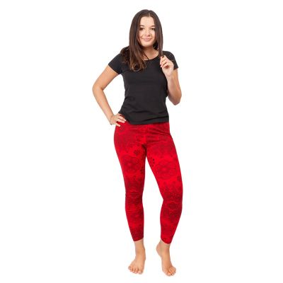 Bedruckte Leggings Mandala Red   S/M, L/XL