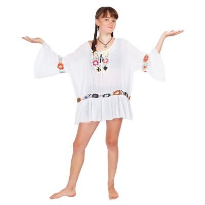 Sommer-Bluse Vera White | UNI