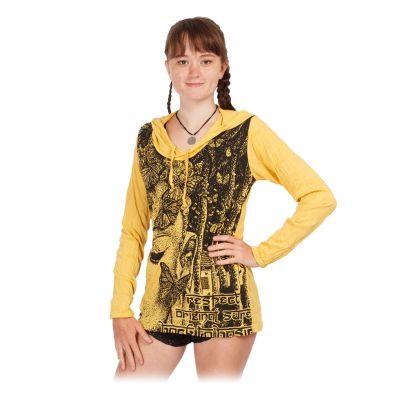 Damen Kapuzen-T-Shirt Sure Buddha's Butterflies Yellow   S, M, L, XL