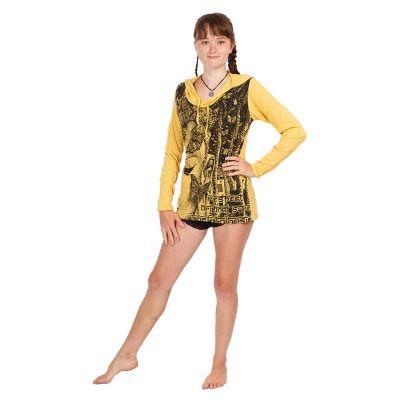 Damen Kapuzen-T-Shirt Sure Buddha's Butterflies Yellow Thailand