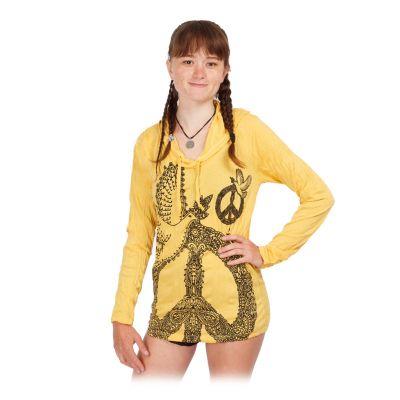 Damen Kapuzen-T-Shirt Sure Dove of Peace Yellow   S, M, L, XL