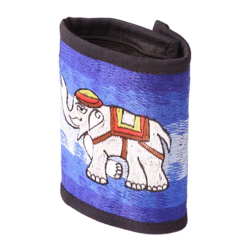 Bestickte Portemonnaie Elefant
