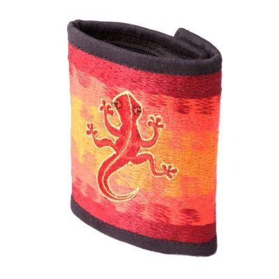 Portemonnaie Gecko an der Flamme