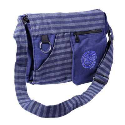 Tasche Lifurna Biru Spiral