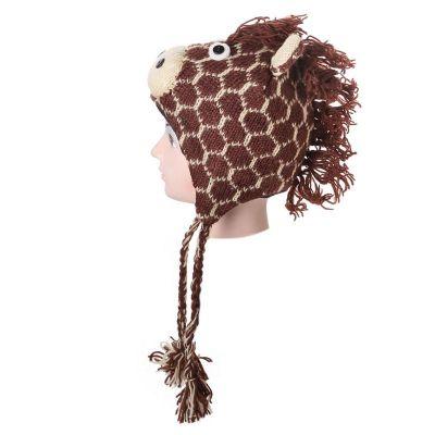 Wollmütze Brown giraffe