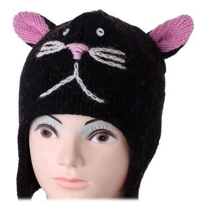 Wollmütze Black Cat