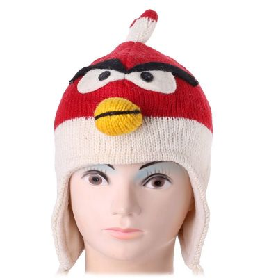 Wollmütze Angry Bird - red