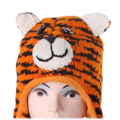 Wollmütze Tiger