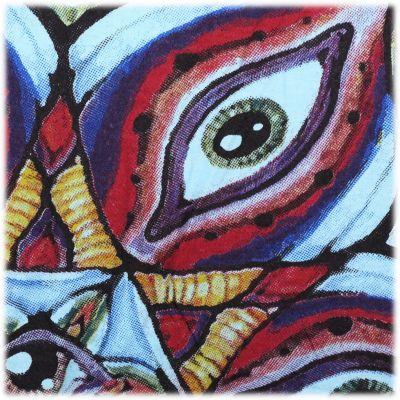 Mirror t-shirt Eye Mandala Turquoise