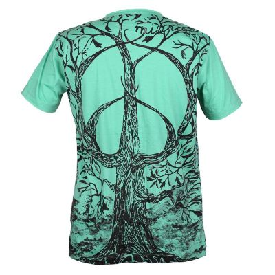 Mirror t-shirt Tree of Peace Turquoise