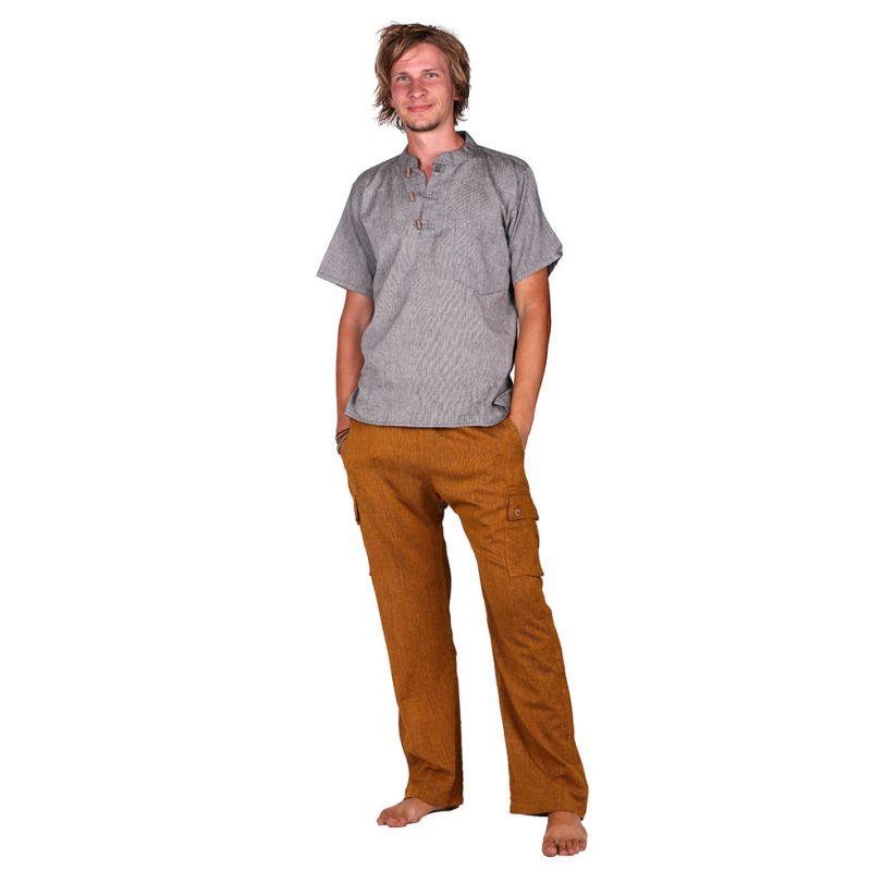 Kurta Pendek Fulmar - Herrenhemd mit kurzen Ärmeln Nepal