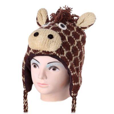 Mütze Brown giraffe