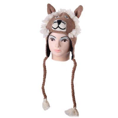 Wollmütze Biege lion