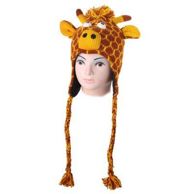Wollmütze Orange giraffe