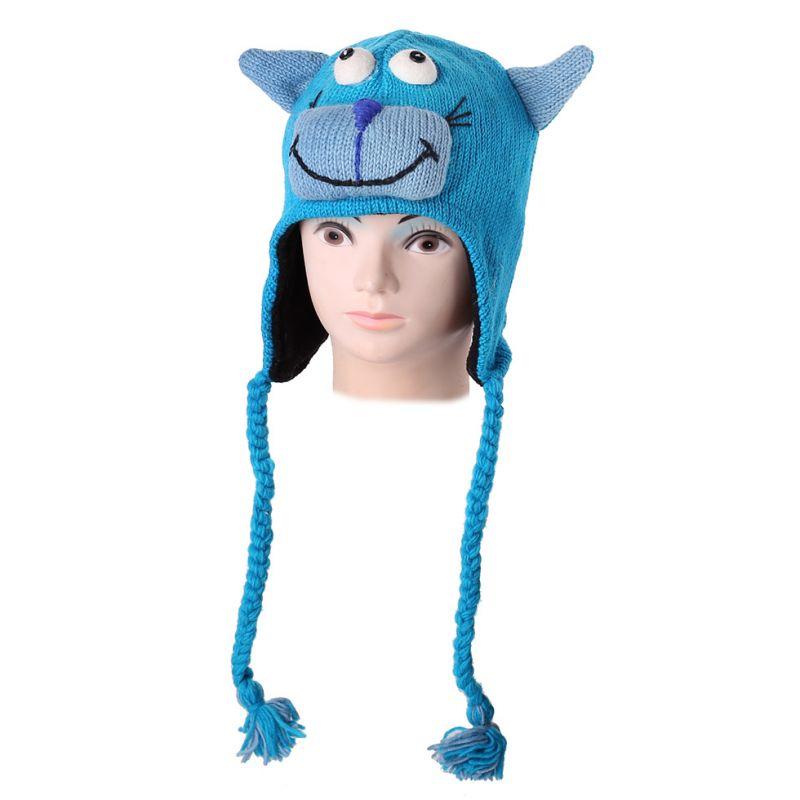 Wollmütze Turquoise Cat