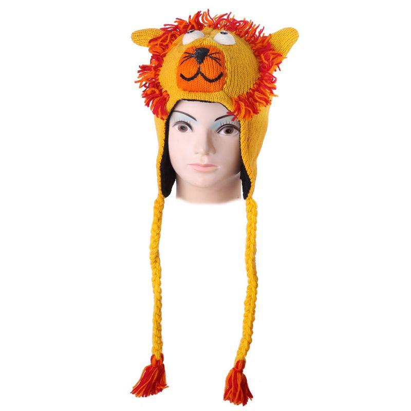 Wollmütze Yellow lion