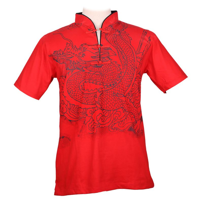Orientalisches T-Shirt Emperor Dragon Red