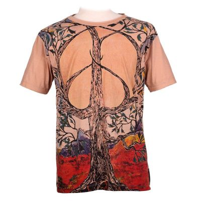 T-shirt Tree of Peace Brown